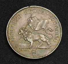 Italian States coins - Fiorino - Tuscan Florin Silver coin, minted in 1859. Italian coins, Italian Coinage, Italian silver coins, Numismatic Collection, Coins of Italy best silver coins for investment.