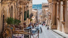 Traditional Sicilian cart on street in old city centre of Noto Sicily Italy UNESCO World Heritage Site Noto Sicily, Sicily Italy, Maddalena Archipelago, Baroque, Bucket List Holidays, Living In Italy, Thing 1, Jules Verne, Southern Italy