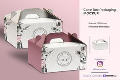 Mockup Templates Cake Box Packaging Mockup by Designertale on Creative Market Tips to increase aesth Cake Boxes Packaging, Brownie Packaging, Dessert Packaging, Bakery Packaging, Packaging Design, Branding Design, Cupcake Packaging, Corporate Branding, Packaging Ideas