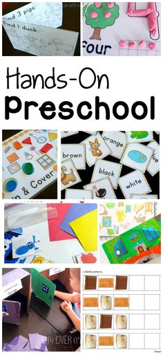 Hands-On, low-budget (free printables with a few extras added in) and easy prep preschool activities! You don't have to spend a fortune on a good education.