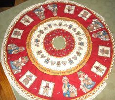 Grandma's Gingerbread Man Christmas Dianna Marcum Finished Quilted Tree Skirt