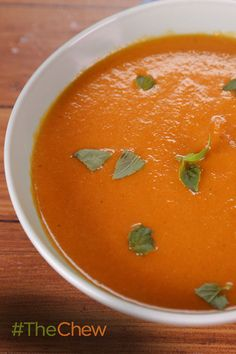 This Roasted Red Pepper Soup is light & fresh, and makes for a perfect addition for your next get-together!