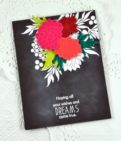 Colour scheme. Daydreamer Revisited: Wishes And Dreams Card by Dawn McVey for Papertrey Ink (July 2015)