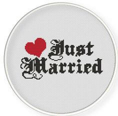 Buy 4 get 1 free ,Buy 6 get 2 free,Cross stitch pattern, Cross-StitchPDF, pattern design ,just married ,zxxc0237. $4.50, via Etsy.