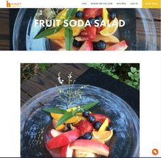 Avanti Cafe Musings: Fruit Soda Salad :: Chef Mark Cleveland @ Hungry H...