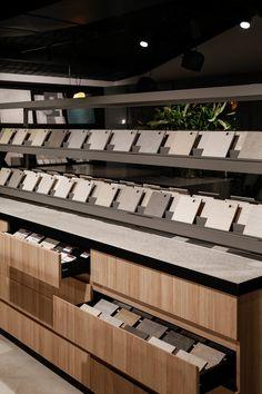 X+O — Thynk Showroom Bar Design, Signage Design, Store Design, House Design, Kitchen Showroom, Tile Showroom, Showroom Interior Design, Retail Interior, Shop Interiors