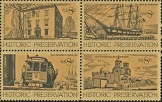 Amazon.com: HISTORIC PRESERVATION ~ SAN XAVIER DEL BAC MISSION ~ DECATUR HOUSE ~ WHALING VESSEL ~ CABLE CAR #1443a Block of 4 x 8¢ US Postage Stamps: Toys & Games
