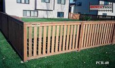 Capped Rail Wood Picket Fences   Minneapolis St. Paul   Midwest Fence
