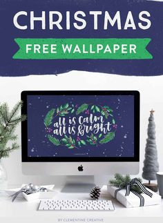 Christmas Wallpaper for your Desktop, Tablet, and Smartphone {All is Calm} Free Christmas Desktop Wallpaper, Xmas Wallpaper, Cute Christmas Wallpaper, Macbook Wallpaper, Wallpaper For Your Phone, Wallpaper Iphone Disney, Computer Wallpaper, Desktop Wallpapers, Christmas Quotes