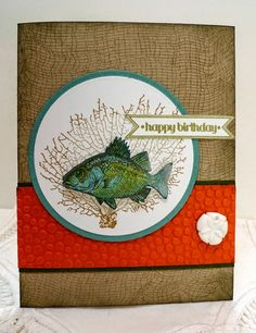 Stampin' Up! By The Tide handmade card
