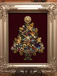 11x14 Jewelry Christmas tree made by Beth Turchi 2015