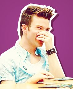 Chris Colfer can't be any more perfect. D'awww. <3