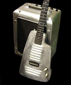 Long Fellow Guitars Aluminium and steel guitar and amp
