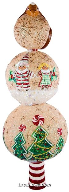 Chameleon Finial (Gingerbread) Patricia Breen (Trees, Noel, Decor