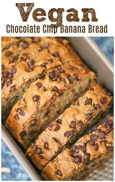 Vegan Baking Recipes, Vegan Dessert Recipes, Banana Bread Recipes, Vegan Breakfast Recipes, Vegan Sweets, Delicious Desserts, Cake Recipes, Vegan Foods, Vegan Snacks