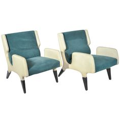 """Pair of Gio Ponti Armchairs """"866"""" By Cassina 