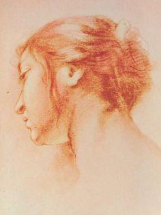 Francesco Furini Italian, Florence, 1603 — 1646 - testa di giovane (Head of a young woman)