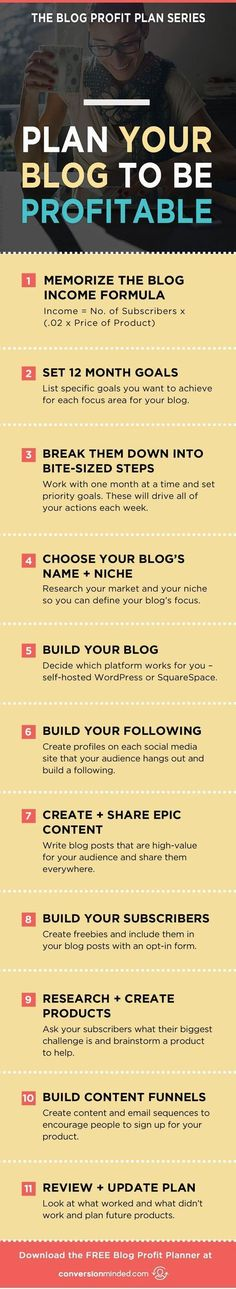 How to Plan Your Blog to Be Profitable | This is part 2 of the Blog Profit Plan Series for bloggers and entrepreneurs who are ready to make money with your blog. Time to create an action plan so you can reach your goals! Click through to see all the steps!