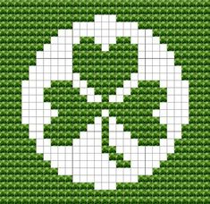 Shamrock dish cloth pattern Knitting Squares, Dishcloth Knitting Patterns, Knit Dishcloth, Knitting Charts, Pixel Crochet, C2c Crochet, Tapestry Crochet, Square Patterns, Loom Patterns