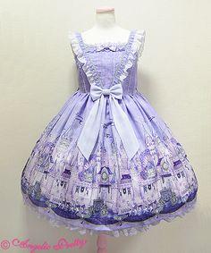 Angelic Pretty Castle Mirage JSK lavender