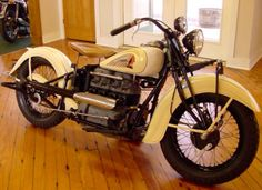 Immaculate '39 Creme & White Indian 4 w/35,000 original miles.