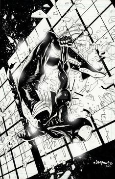 A Long overdue Black Costume Spidey Commission Black Suit Spider-man Amazing Spiderman, Spiderman Art, Marvel Comics Art, Marvel Heroes, Spiderman Black Suit, Dark Drawings, Man Wallpaper, Marvel Entertainment, Spider Verse