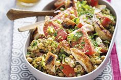 Try something different with our Tabbouleh Salad with Grilled Chicken, Tomatoes and Legumes recipe. You'll find it to be a refreshing change from your current go-to side salad. Veggie Quinoa Salad, Quinoa Tabbouleh, Quinoa Salad Recipes, Legumes Recipe, Pulses Recipes, Grilled Chicken Salad, Kraft Recipes, Cooking Instructions, Side Salad
