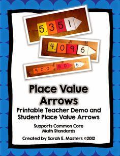 Teacher set-place value arrows