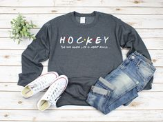 Excited to share the latest addition to my shop: Christian Sweatshirt - He Left The 99 To Rescue Me Sweatshirt - Christian Pullover Shirt - Luke 15 - Bible Verse Sweatshirt Hockey Sweatshirts, Hockey Shirts, Hockey Mom, Funny Sweatshirts, Hockey Girlfriend, Ice Hockey, Hockey Sayings, Hockey Rules, Funny Hockey