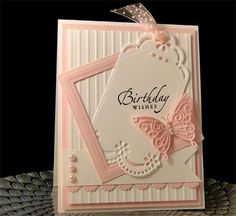 Bday Card - Pretty Tag Birthday card - SU greeting from Sincere Salutations stamp set