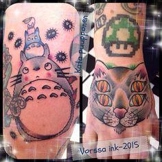 https://www.facebook.com/VorssaInk/, http://tattoosbykata.blogspot.com, #tattoo #tatuointi #katapuupponen #vorssaink #forssa #finland #traditionaltattoo #suomi #oldschool #pinup #totoro #cat