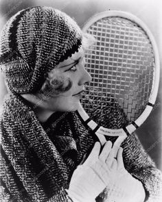 7328adff5a photo Anita Page and her tennis racket portrait 1157-34