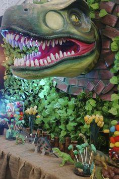 Dinosaur Party Backdrop | CatchMyParty.com