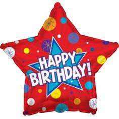 Red Birthday Star Mylar Balloon, each, Size: Assorted Metallic Balloons, Mylar Balloons, Confetti Balloons, Latex Balloons, Birthday Party Celebration, Birthday Party Decorations, Party Favors, Party Themes, Birthday Star