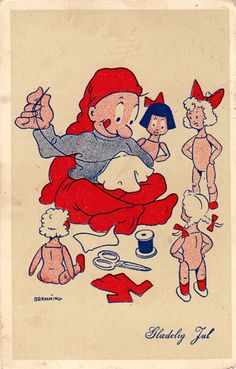 Frederik Bramming More Christmas Home, Christmas Crafts, Kobold, New Year Postcard, Merry Happy, Christmas Paintings, Vintage Christmas Cards, Doll Clothes Patterns, Elves