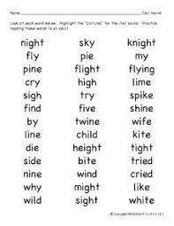 Ie Phonics Words List