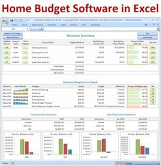 icu ~ Georges Budget for Excel ~ Home budget spreadsheet template software - simple family budget software to keep track of personal finances Budget Spreadsheet Template, Excel Budget, Budget Templates, Budget Help, Money Budget, Financial Budget, Financial Peace, Financial Planning, Templates Free