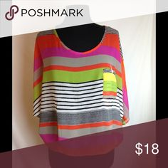 Beso blouse Beso multi colored blouse Beso Tops Blouses