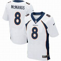 Nike Denver Broncos  8 Brandon McManus White New Elite jerseys Broncos  Shirts 32bac7327