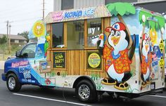 Kona Ice, shaved ice truck ... self-serve flavors, no out of pocket expense for fundraisers. They show up for FREE and end of event give you 20% of sales on the spot! SUPER COOOOOL!