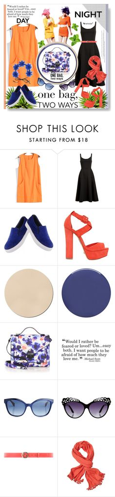 """Day to Night Handbag"" by sweetsely ❤ liked on Polyvore featuring Schutz, Smith & Cult, Loeffler Randall, Fendi, Miss Selfridge, Gucci, prAna, Gigi Burris Millinery, polyvoreeditorial and onebagtwoways"