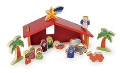 New Children's Coloured Wooden Nativity Christmas Story Stable Set Decoration in Home, Furniture & DIY, Celebrations & Occasions, Christmas Decorations & Trees | eBay