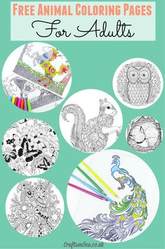 Free Animal Coloring Pages for Adults - Crafts on Sea