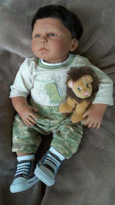 19 inch Handmade Israeli Newborn Doll Daniel by DawnRoseDolls, $165.00