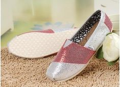 fresh and ready for your feet,TOMS shoes,god...SAVE 70% OFF! this is the best! | See more about glitter shoes, tom shoes and shoes women.
