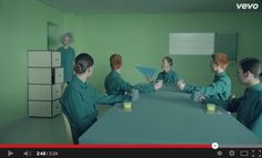 The whole video is a very good design because scene to scene the design elements are consistent and create unity and balance throughout the whole. Primarily green is used throughout the video which creates harmony. The lines are horizontal and vertical. The whole video is primarily about balance, rhythm, unity, and harmony. All the elements support the principles and create a good design.