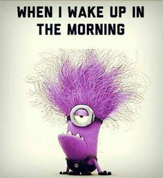 What my curly hair looks like first thing in the morning. And me before my coffee.