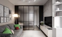 sliding-glass-bedroom-walls-in-studio-apartment.jpg (1200×720)