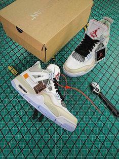 08c52d64ac6 OFF WHITE x Nike Air Jordan 4 - Prada Sneakers - Ideas of Prada Sneakers -