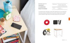 How to Make a Nightstand That Charges Your Phone via Brit + Co